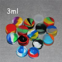 Wholesale Food Container Organizer - 2016 Hot Selling Silicone Wax Oil Container 3mL 32*15mm Containers Silicone Jars Wax Concentrate Wax Containers Free Shipping DHL