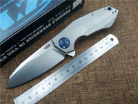 karbon taşıyıcı toptan satış-SıFıR TOLERASYON 0562CF ZT0456 Katlanır Bıçak Rulman Flipper EDC Bıçaklar Karbon Fiber Kolu D2 Blade Açık Kamp Bıçak