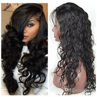 Wholesale Brazilain Natural Wave Wig - Huihao 100% Unprocessed Brazilain Malaysian Peruvianfulllacewig Natural Black natural Wave Lace Cap Lace Front Wigs with baby hair
