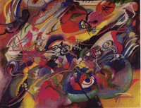 Wholesale Kandinsky Abstract Paintings - SKETCH 1 for COMPOSITION VII by Wassily Kandinsky,Pure Handpainted Abstract Art oil painting On High Quality Canvas size can customized