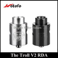 Wholesale velocity rda for sale - Original WOTOFO The Troll RDA mm Diameter Rebuidable Dripping Atomizer with Velocity Deck DHL EMS Free