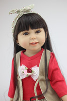18 inch Girl American Dolls Full Vinyl Silicone Handmade Real Lifelike Baby Toy Finished Doll Christmas Gift