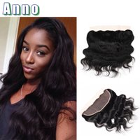 Wholesale Mocha Brazilian Straight - 2017 Lace Frontals Ear To Ear With Bady Hair Hair Brazilian Closure 13x4 With Free Part Bleached Knots Virgin Body Wave Mocha