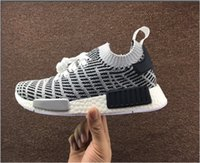 Wholesale nice free shoes - 2017 Free Shipping NMD Runner R1 Black White Nice Tuck Coat Knitting Men's Ladies Running Shoes Sneakers Original Classic Casual Shoes