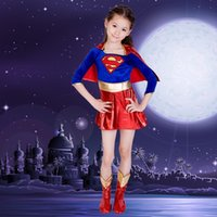ance dress superheroes Kids Child Girls supergirl Супермен Cosplay Costume Christmas Day С Новым годом Halloween Purim Fancy Dress Super ...