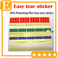 Wholesale Oca Tape - 500PCS Lot OCA Adhensive Polarizing Film Tear Tape Protective Film Refurbish Normal Viscosity PULL TAPE Easy Tear Sticker New For LCD Screen