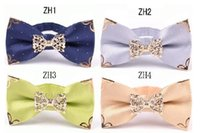 Wholesale Inserted Collars - 2016 New Men's Business Suits adult Tie sheet metal insert tie Bowtie collar flower Korean Fashion Clothing Accessories