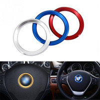 Wholesale Bmw Steering Wheel Cover - 2017 New Aluminum alloy car steering wheel center decorating ring cover for BMW Series