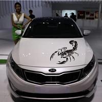 akrep çıkartmaları çıkartmaları toptan satış-3D Akrep Araba Çıkartmaları araba styling vinil çıkartması sticker için Arabalar Acessories dekorasyon Serin ucuz araba çıkartmaları