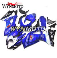 motosiklet korona kiti toptan satış-Suzuki GSXR1000 K7 Yıl 2007 2008 için Fairings 07 08 Enjeksiyon ABS Plastik Kaporta Motosiklet Kaporta Kiti Cowling Corona Mavi Motosiklet Yeni