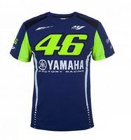 Wholesale T Shirts For Men Size - 2017 VR46 T SHIRT MOTOGP The Doctor T-shirts for Valen Rossi VR46 yamaha Racing Blue MotoGP Men's T-Shirt Rossi 46 jersey