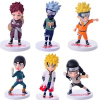 Wholesale Naruto Figure New - NEW 6 Pcs Set Naruto Figures Toy Dolls Anime Figurine Collection Q Edition PVC Model Children Baby Kids Toys Gift