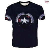 Wholesale Superman Long Sleeve Mens - Batman Spiderman Venom Ironman Superman Captain America X-man Punisher Marvel Compression T shirt Avengers Superhero mens short sleeve shirt