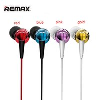 Wholesale High Performance Ear Earphones - Remax RM-575 Wire Earphone High Performance Stereo Headset Microphone Line-Control Pure Music Earphone Support All Phone Smartphone