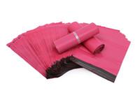 poly-mailer-tasche kunststoff großhandel-100 teile / los Rosa Poly Mailer 10 * 13 zoll Express Tasche 25 * 35 cm Mail Taschen Umschlag / Selbstklebende Dichtung plastiktüten beutel