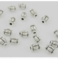 1000Pcs Tibetan Silver alloy Spacer Beads For Jewelry Making Craft Findings 6x4.5mm