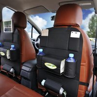 Wholesale Tissue Storage - Auto Car Back Seat Storage Bag Car Seat Cover Organizer Holder Bottle Tissue Box Magazine Cup Food Phone Bag Backseat Organizer LJJO2845