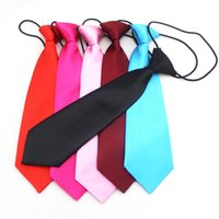 Wholesale Neck Tie Child - Halloween children Ties cotton fashion Candy colors tie Party dress up Children Neck Tie 14 colors 28*7cm C2620
