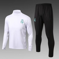 Wholesale Red Black Sweat Pants - Best quality Soccer tracksuits 2017 2018 survetement football Real Madrid training suits sweat chandal soccer jogging football pant