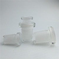 mini dönüştürücüler toptan satış-2 stil mini cam bong adaptörü dönüştürücü 10mm kadın 14mm erkek 14mm kadın için 18mm erkek kalın yağ rig adaptörü için sigara