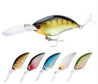Wholesale Deep Diving Saltwater Lure - Floating Deep Diving Crankbait Fishing Lures 17.8g 70mm Lifelike Wobblers With 6# Owner Hooks peche isca artificial