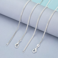 Wholesale Diamond Snake Pendant Necklace - 925 Sterling Silver Box Chains Necklace For Pendants Jewelry Cheap Price Chain For Woman Lobster Clasps Size 1.4MM