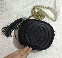 Wholesale Designed Bags - Hot Fashion design shoulder bag ladies tassel profile women messenger bags 100% genuine leather bag 353965