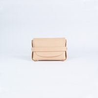 Wholesale Nature Wallets - Unisex nature vegetable tan leather wallet ID business card holder coin purse key wallets brass warehard