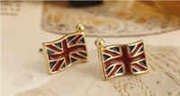 Wholesale Ear Jack Accessories - Novelty British Union Jack Flag United Kindom Flags Earrings Ear Studs Jewelry Gift Chic Cute Design Earing Ear Accessories Womens Jewellry