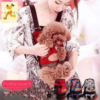 Wholesale Pet Tote Carrier Purse - 2016 Portable Canvas Pet Dog Cat Puppy Carriying Carrier Case Comfort Travel Tote Front Shoulder Bag Backpack Purse Handbag