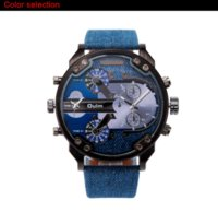 Wholesale Military Numbers - Military Watch Men Watches with Double Movt Numbers and Strips Hours Marks Leather Band Quartz Men Sports Watches Relogio