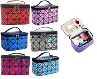 Wholesale korea style travel bag resale online - Korea Style Large Capacity Cosmetic Bag Makeup Box Waterproof Washing Organizer Travel Collecting Case for Lady Girls