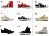 Wholesale Navy Blue Chucks - 2017 New big Size 35-45 High top Casual Shoes Low top Style sports stars chuck Classic Canvas Shoe Sneakers Men's Women's Canvas Shoes