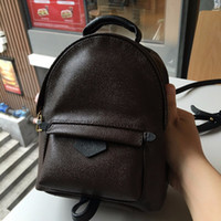 Wholesale child prints - Hight quality Women's Palm Springs Mini Backpack genuine leather children backpacks women printing leather Mini backpack 41560