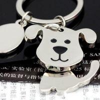 Wholesale best dog car resale online - High quality Spinning Cute Dog Keychain Key Chain Ring Unique KeyChain keyrings zinc alloy the best wedding Favor Key Fob Car Keychain