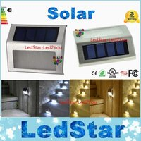 Wholesale Ni Steel - High Bright 2LED Solar Powered Stainless Steel Outdoor Corridor Pathway Stairs Driveway Flowerbeds Superior Durable white Light Lamp