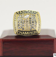Wholesale Fantasy Rings - 2017 GOLD COLOR FANTASY FOOTBALL FFL GLORY CHAMPIONSHIP RING SOUVENIR SPORT RINGS US SIZE 8 9 10 11 12 13 14 AVAILABLE