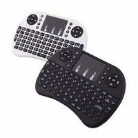 Wholesale Rii Mini Wireless Pc Qwerty - Fly Air Mouse 2.4G RII Mini i8 Wireless QWERTY Keyboard Mouse Remote Controlers Touchpad for PC Notebook Android TV Box Free DHL