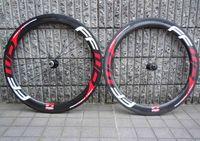 rodas da bicicleta da fibra do carbono que competem venda por atacado-Novo Ffwd 60mm Rodas de Bicicleta Fast Forward 700c Vermelho De Fibra De Carbono Road Bike Racing Wheelset Clincher Tubular