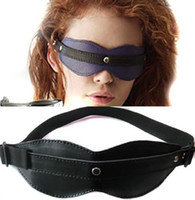 Wholesale Sex Aid Wholesalers - Black Pu Leather Eye Mask Blindfold Adult Sex Toys For Adults Games Bondage Tease Sex Aid Party Fun Sex Products Free Shipping