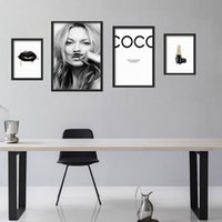Wholesale Celebrity Wall Art - Famous Celebrity Supermodel Cuadros Kate Moss,Sexy lips life is a joke For Lijst IN Canvas Art Print Wall Poster Home Decor