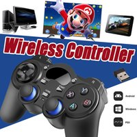 Wholesale Windows Xp Tablet Pc - Universal 2.4G Wireless Game Controller Gamepad Joystick Mini keyboard Remoter For Android TV Box Tablets PC Windows 8 7 XP With Retail Box