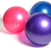 ingrosso yoga gonfiabile-Sfera di yoga a prova di esplosione sfere di massaggio palla rimbalzante esercizio di ginnastica palla di equilibrio gonfiabile di yoga palla 65 cm 5 colori palle di formazione