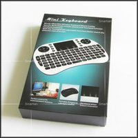 Wholesale Rii i8 Remote Air Mouse Mini Keyboard Combo Wireless G Touchpad Keypad For MXQ M8S Bluetooth Android S905 TV BOX