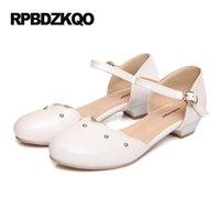 Wholesale Cheap Custom Sandals - Sandals Ladies Cheap 10 Ankle Strap Beautiful Flats Shoes Stud Women Large Size 2017 Summer 43 Custom White Round Toe European