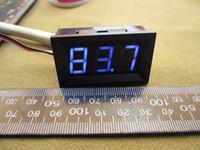 mavi led dijital voltmetre dc toptan satış-Toptan-10 adet / grup # 0001 0 - 99.9 V DC Dijital Ekran Voltmetre Üç Bit Mavi 0.56