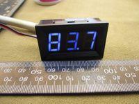 """medidor de panel de pantalla lcd al por mayor-Wholesale-10pcs / lot # 0001 0 - voltímetro de la exhibición digital de 99.9V DC tres bits azul 0.56 """"metro de la tensión del LED con la conexión reversa"""