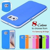 S6 / S6 Bord TPU Couleur Ultra Thin Double pour Samsung Galaxy S6 Durable Slim Soft Light Phone Housse Pour S 6 Combo Shell