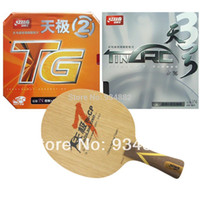 Wholesale Dhs Table Tennis Paddles - Pro Table Tennis (Ping Pong) Combo Paddle   Racket: DHS TG7.CP + TinArc3   NEO Skyline TG2
