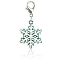 Wholesale Jewelry Making Snowflake - Christmas Classic Floating Lobster Clasp Charms White Enamel Snowflake Pendants DIY Charms For Jewelry Making Accessories